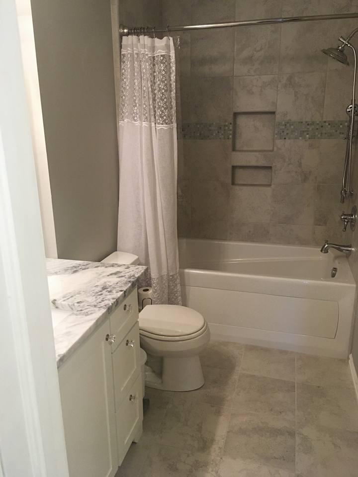Small Bath Construction