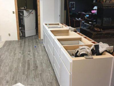 Before Kitchen Cabinet Restoration